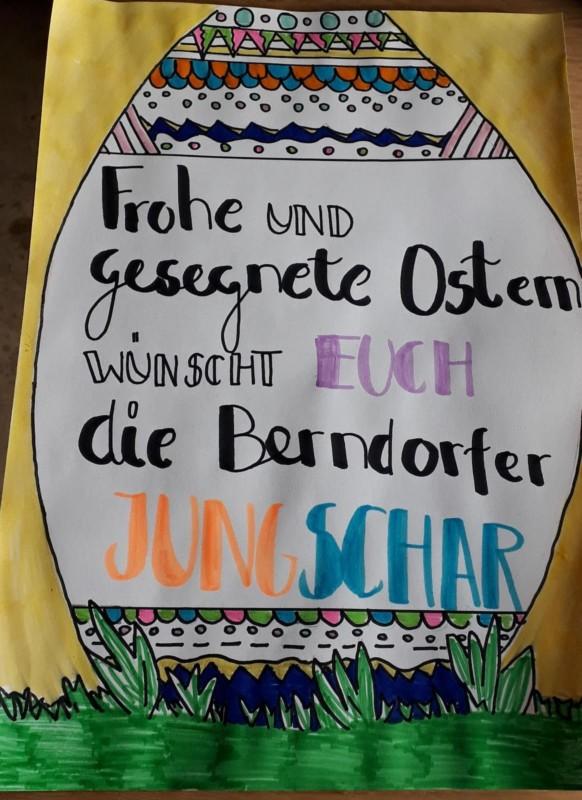 Ostergrußaktion 2020 der Berndorfer Jungscharkinder